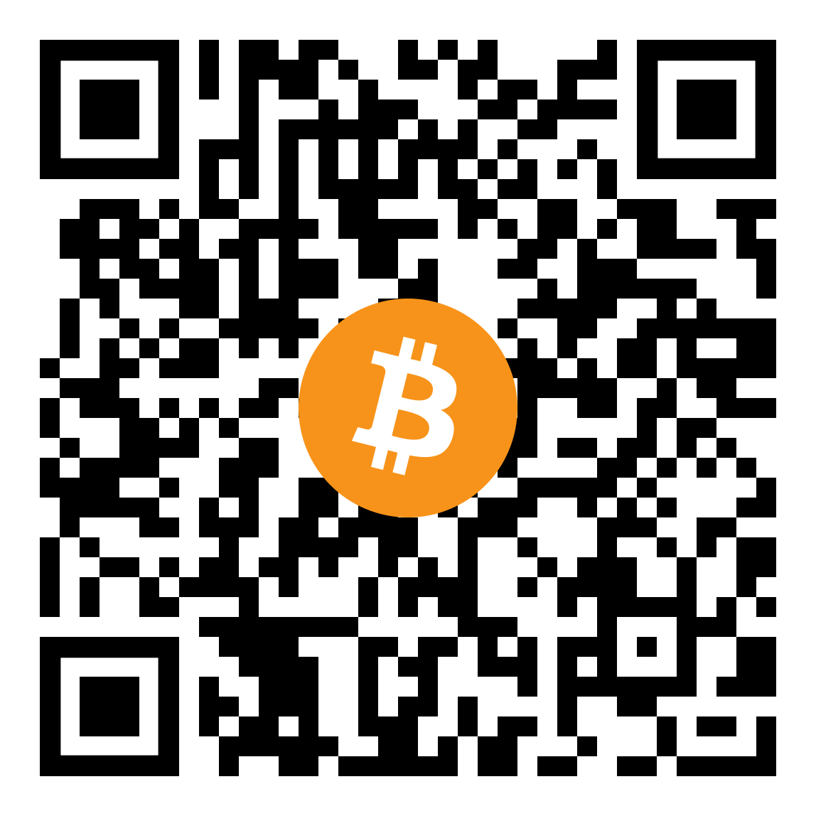 Zufallslink gegen Langweile - Bitcoin-Spende QR-Code